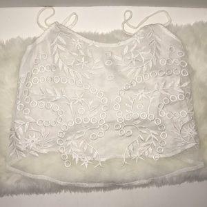 Women's white crop top